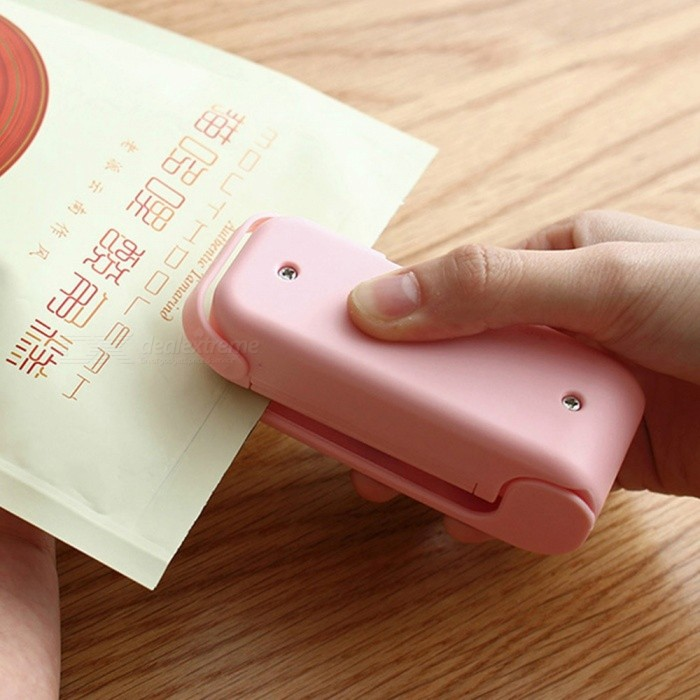 Small Portable Mini Sealing Clip - Light Pink
