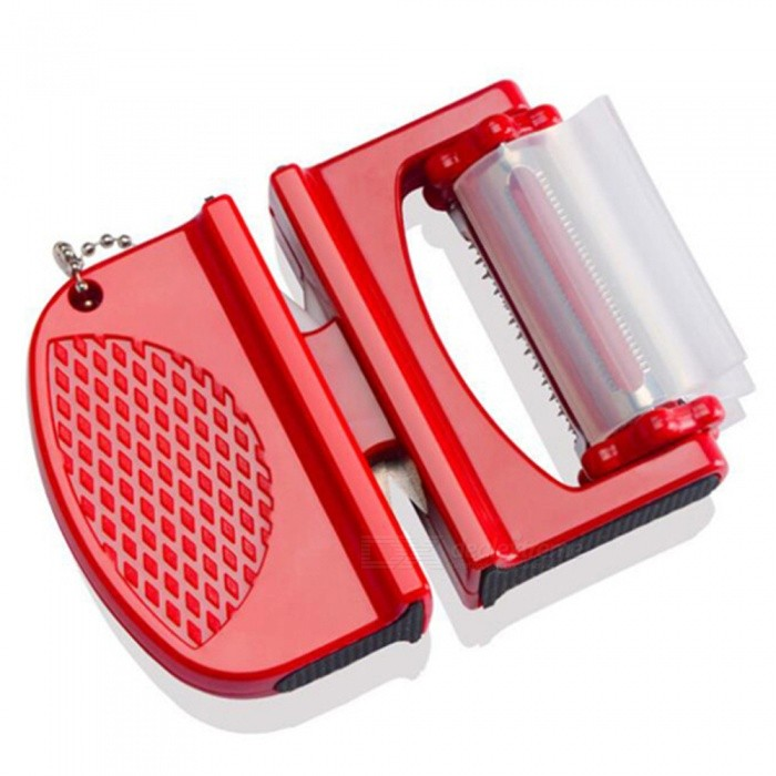 Buy Household Double Use Knife Sharpener - Red with Litecoins with Free Shipping on Gipsybee.com