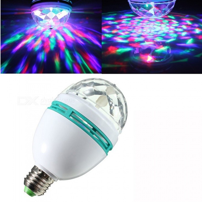 LED Bulb RGB Auto Rotating Magic Ball Bulb Lamp Stage Light Colorful Night Light for Home DJ Holiday Party Dance Decoration for sale in Bitcoin, Litecoin, Ethereum, Bitcoin Cash with the best price and Free Shipping on Gipsybee.com
