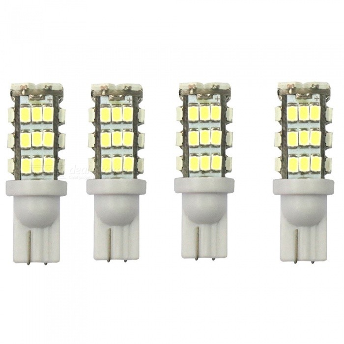 Buy T10 12V 16W 6000K 400LM 42-LED 3528 SMD 4-Piece Car Turn Signal Light, License Plate Light - White Light with Litecoins with Free Shipping on Gipsybee.com