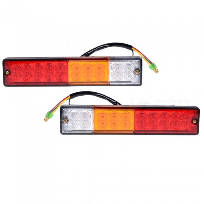 Buy Car 12V / 24V High Quality 20-LED Super Bright Trailer Tail Light, Truck LED Rear Light (2 PCS) with Litecoins with Free Shipping on Gipsybee.com