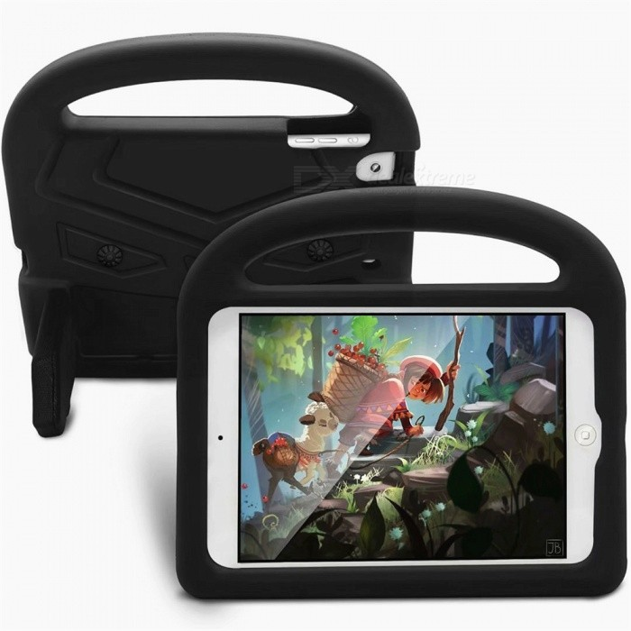 Buy EVA Soft Colloid Anti-Dropping MID Case for IPAD MINI 1 / 2 / 3 - Black with Litecoins with Free Shipping on Gipsybee.com