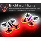 JXD 522 RC Helicopter 2.4GHz 6 Axis Gyro Wi-Fi FPV Quadcopter Drone Stunt Aircraft with Fantastic LED Night Lights - Black