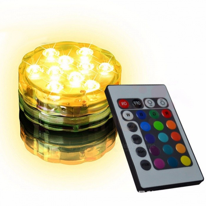 3 AAA Battery Operated Waterproof LED Colorful Light Color Changeable Coaster Waterproof Cup Mat With Remote Controller RGB/White/0-5W