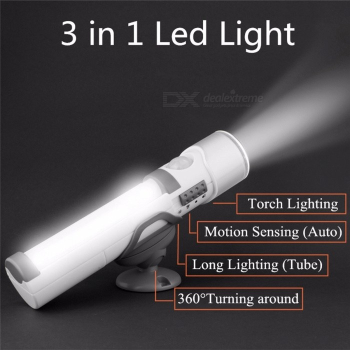 Buy Wall Lamp Multifunction LED Wireless Wall Light PIR Infrared Motion Sensor Nightlight Flashlight Torch LED Lamps White/White with Litecoins with Free Shipping on Gipsybee.com