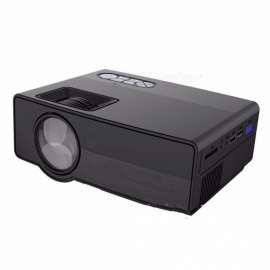 Portable Mini LED Cinema Video Digital 1500 Lumens 1080P HD Home Theater Projector Wireless Projector With USB, VGA, SD black