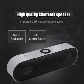 NBY-18 Mini Bluetooth Speaker Portable Wireless Speaker Sound System 3D Stereo Music Surround Support Bluetooth Red/Speaker