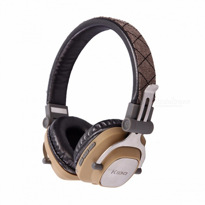 Portable Folding Metal Bluetooth Wireless Headphone Headset For Mobile Phone, Computer, Tablet Pc Black