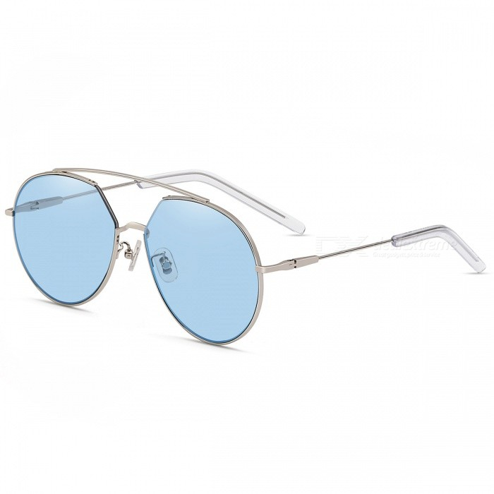 Buy MOBIKE 5041 Women's Fashion UV400 Protection Resin Sunglasses - Silver + Translucent Blue with Litecoins with Free Shipping on Gipsybee.com