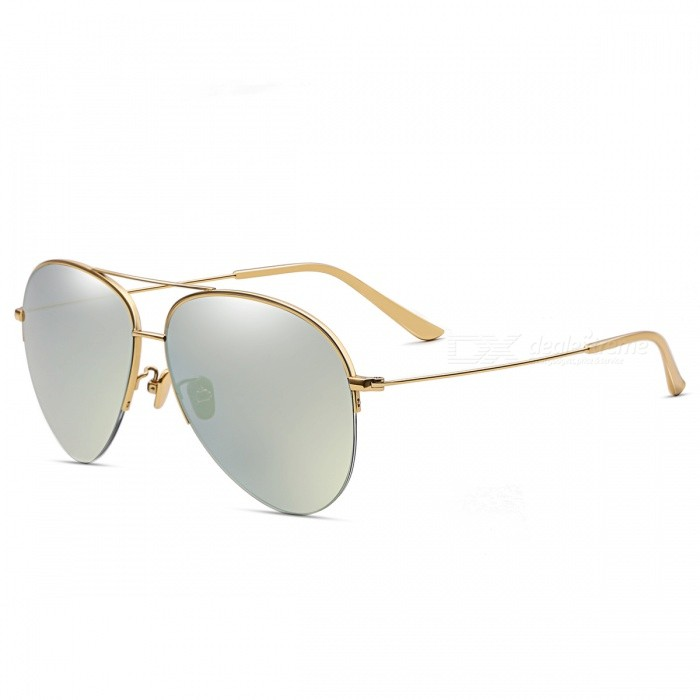 Buy HarleyMick Titanium Polarized Sunglasses Pilot Driving Polarized Sunglasses 3001 Gold Frame Gold Film UV400 UV Protection with Litecoins with Free Shipping on Gipsybee.com