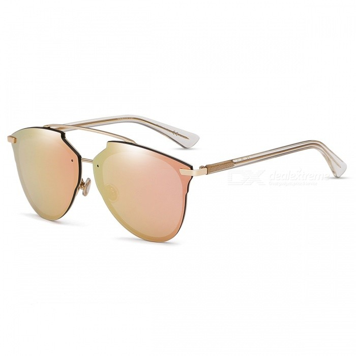 Buy HarleyMick 5044 Fashion UV400 Protection Nylon Resin Sunglasses - Pink with Litecoins with Free Shipping on Gipsybee.com