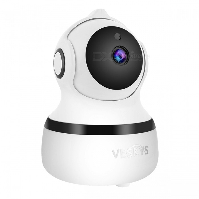 VESKYS 1.0MP 720P HD Wireless Wi-Fi IP Camera w/ Infrared Night Vision, Two-way Voice Intercom