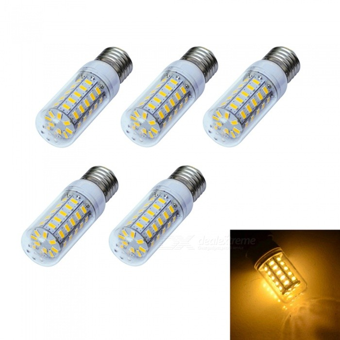 Buy XSUNI 5PCS E27 8W 3200K Warm White 48-LED Corn Lamp Bulb - White (AC 220V-240V) with Litecoins with Free Shipping on Gipsybee.com