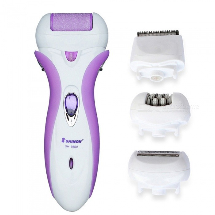 Buy OJADE 4-in-1 Rechargeable Multifunctional Women Shaver, Electric Epilator Hair Removal Tool (EU Plug) with Litecoins with Free Shipping on Gipsybee.com
