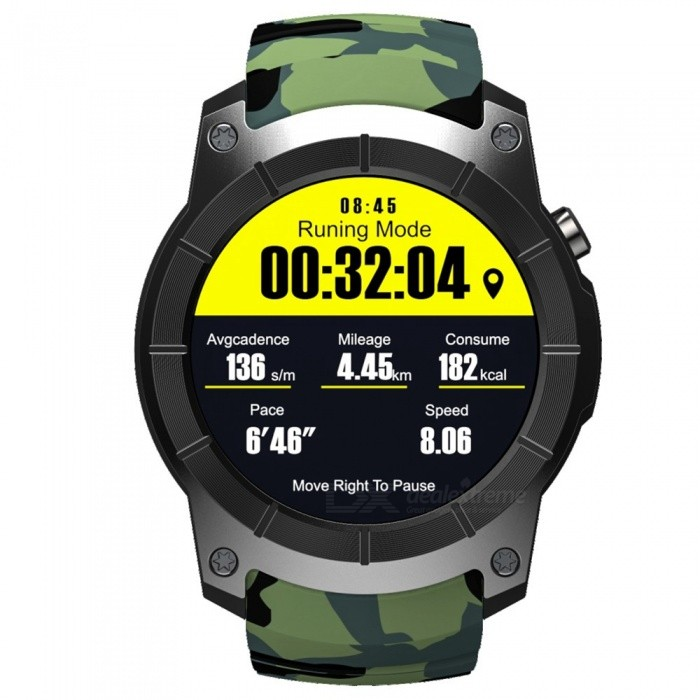 Buy S958 Sports Smart Watch, Waterproof Watch Phone w/ GPS - Camouflage with Litecoins with Free Shipping on Gipsybee.com