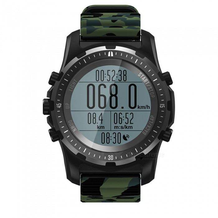 S966 GPS Smart Watch, Waterproof Smartwatch w/ GPS Track, Altitude Compass, Barometer Function - Camo