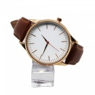 Cooho C07 Men's Watch Business Trend Simple All Match Quartz Wriswatch - Brown + Gold