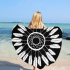 JEDX-150cm-Feather-Printed-Microfiber-Summer-Bath-Towel-Round-Sand-Beach-Towel-for-Kids-Adults-Women-Black-2b-WhiteF