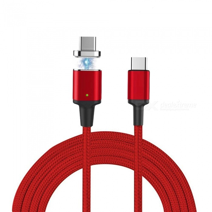 Cwxuan Magnetic Type C Male to Male PD Fast Charging Data Sync Cable for MacBook Samsung Huawei Xiaomi and More