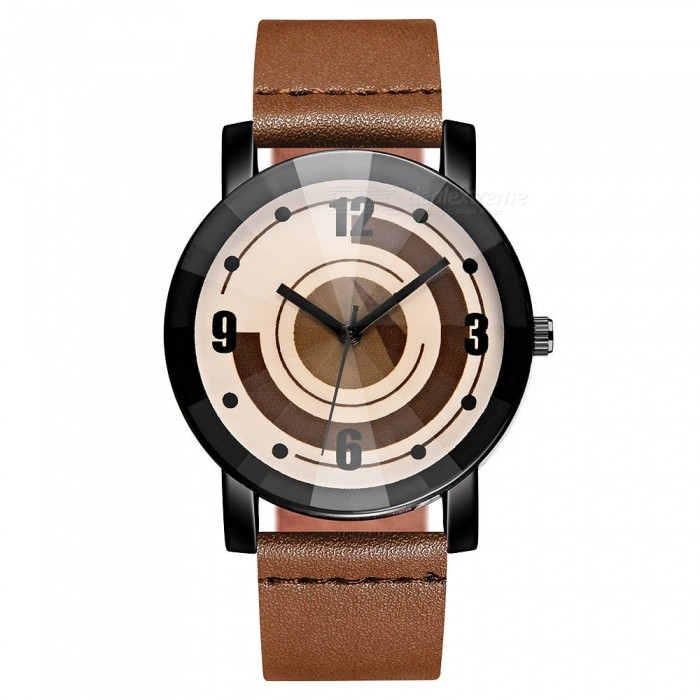 Buy Cooho C10 Women's Wrist Watch Creative Design Retro All Match Fashion Casual Quartz Watch - Brown with Litecoins with Free Shipping on Gipsybee.com