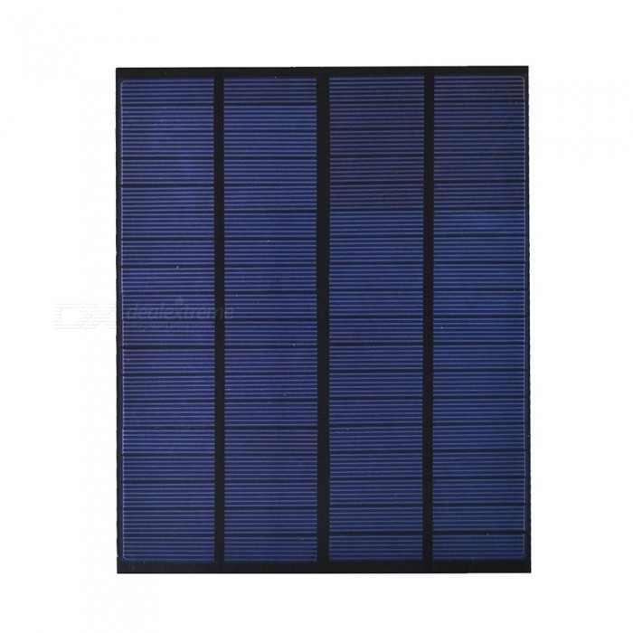 JEDX Polysilicon Solar Panel 5W 18V - Blue + Black