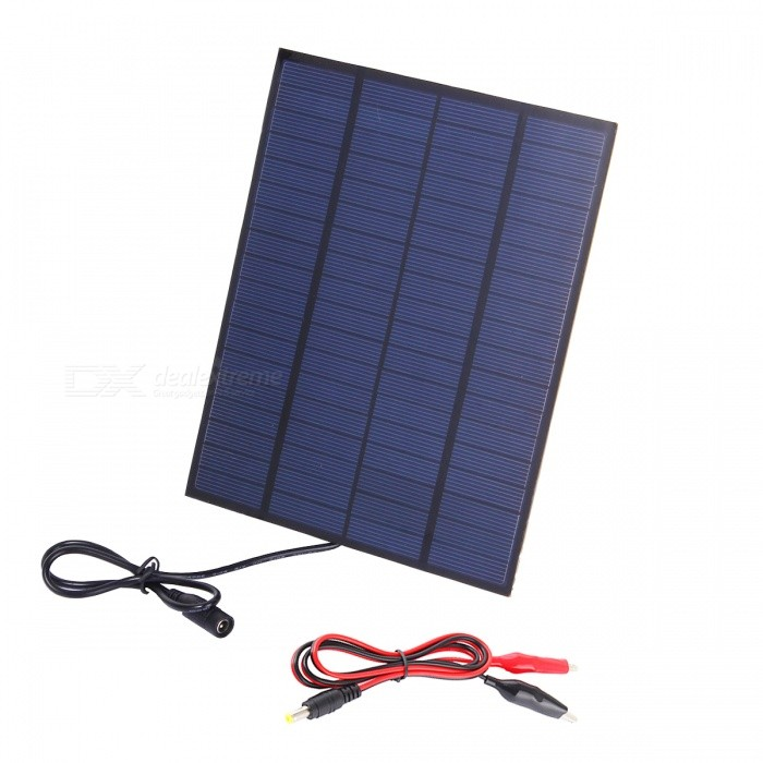 Buy JEDX SW5018B 5W 18V Polycrystalline Silicon Solar Charging Plate with Alligator Clip with Litecoins with Free Shipping on Gipsybee.com