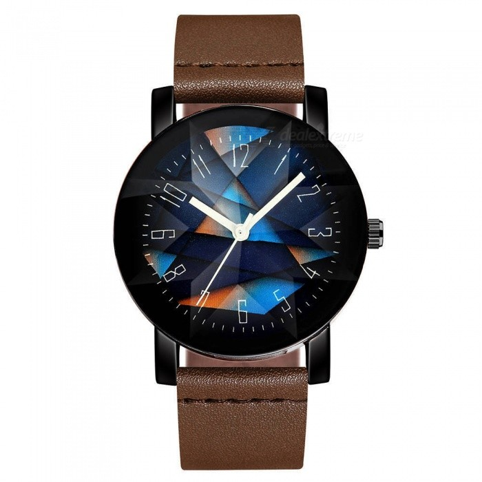 Buy Cooho C08 Men's Watch Fashion Simple Colorblock Dial All Match Wristwatch - Brown with Litecoins with Free Shipping on Gipsybee.com