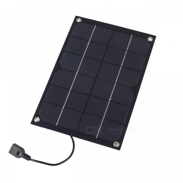 JEDX SWR6005U 6W 6V Ultra-light Flexible USB Output Monocrystalline Silicon Solar Charging Plate
