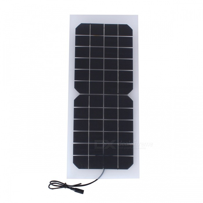Buy JEDX  SWR1012D 10W 12V Monocrystalline Silicon PET Flexible Transparent Solar Charging Plate with DC5521 Line with Litecoins with Free Shipping on Gipsybee.com
