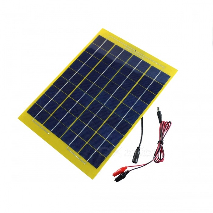 Buy JEDX SWB1018BN 10W 18V Polysilicon Solar Panel with Alligator Clip with Litecoins with Free Shipping on Gipsybee.com