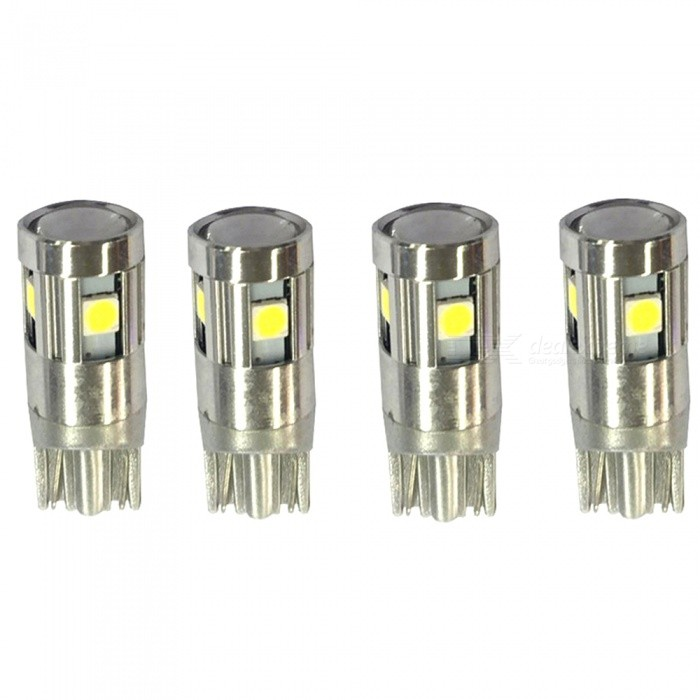 Buy T10 7W 6000K 9-LED 3030 SMD Automotive Turn Signal LED Lamp (4 PCS) with Litecoins with Free Shipping on Gipsybee.com