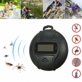 P-TOP-Outdoor-Portable-Electronic-Mosquito-Repeller-Hook-Type-Pest-Repeller-Solar-Ultrasonic-Mosquito-Insect-Killer-Black