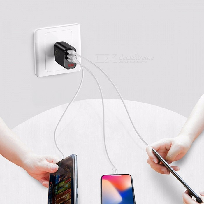 Buy Baseus 3.4A Universal 3 Port USB Charger For Samsung Xiaomi Charger Adapter EU Plug Portable Travel Wall Charger Black/EU with Litecoins with Free Shipping on Gipsybee.com