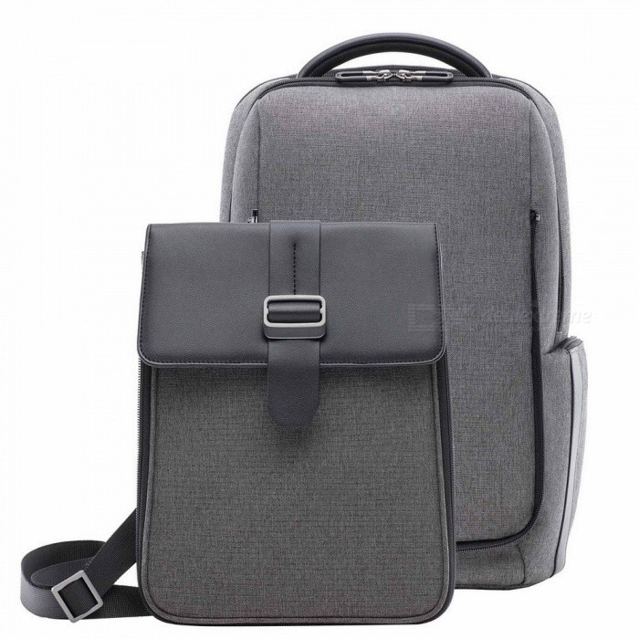 Buy Xiaomi Fashion Commuting Waterproof Backpack Removable Front Bag Big Capacity Men Backpacks Travel Backpack Laptop Bag Dark Grey with Litecoins with Free Shipping on Gipsybee.com