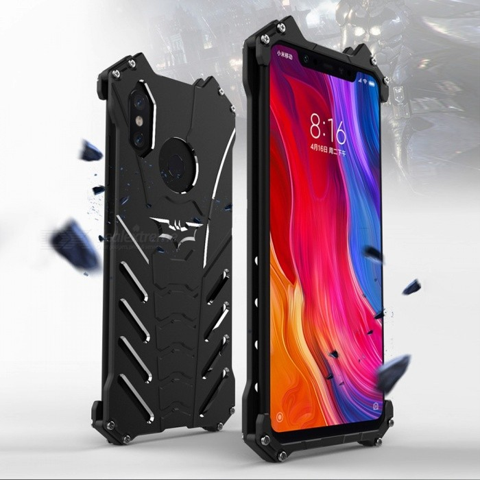 Unique Cool Heavy Duty Full Covered Anti-Scratch Anti-Drop Phone Case Shell, Back Cover For Xiaomi 8 / MI8 Black