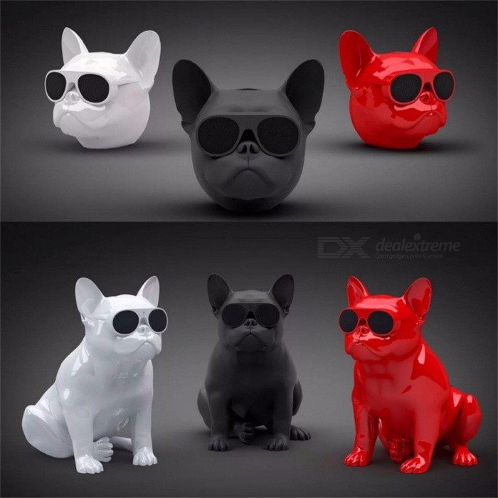 Bulldog Shape Nano Wireless Bluetooth Speaker, Outdoor Portable Bass Speaker Subwoofer with Touch Control