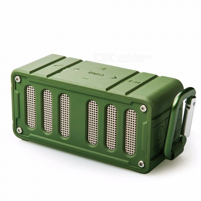 MiFA - F6 NFC Bluetooth Høyttaler, Trådløs Stereo Høyttaler, Super Bass HIFI 360 Graders Lossless Musikkspiller For Telefon Army Green / Speaker