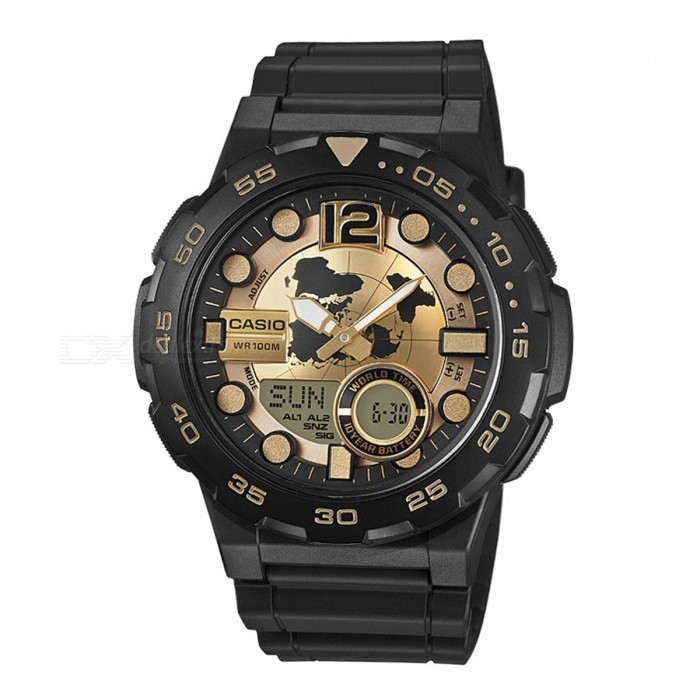Buy Casio AEQ-100BW-9A Standard Analog Digital Watch - Black (Without Box) with Litecoins with Free Shipping on Gipsybee.com