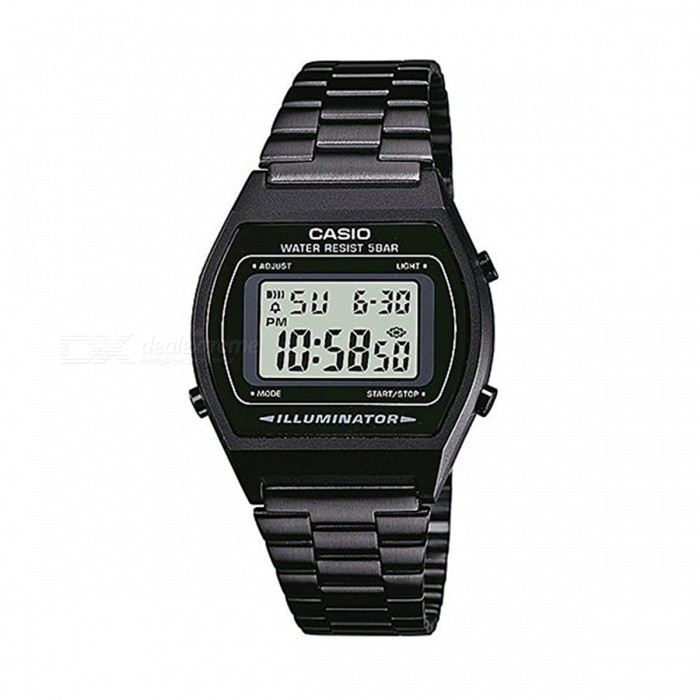 Buy Casio B640WB-1A Vintage Series Illuminator Digital Watch - Black (Without Box) with Litecoins with Free Shipping on Gipsybee.com