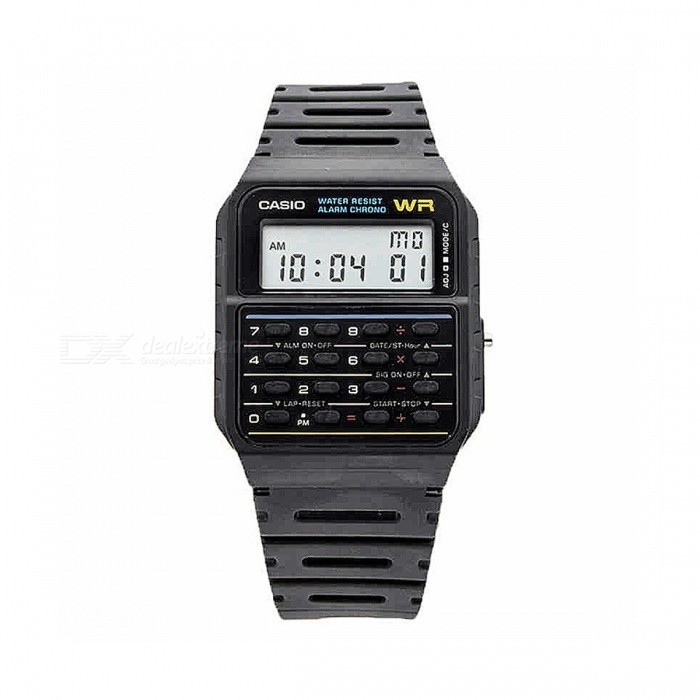 Buy Casio CA-53W-1Z Calculator Vintage Retro Watch - Black (Without Box) with Litecoins with Free Shipping on Gipsybee.com