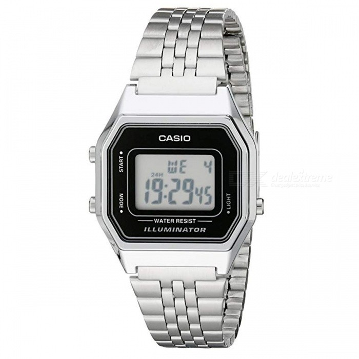 Buy Casio LA680WA-1 Steel Band Digital Watch - Silver (Without Box) with Litecoins with Free Shipping on Gipsybee.com