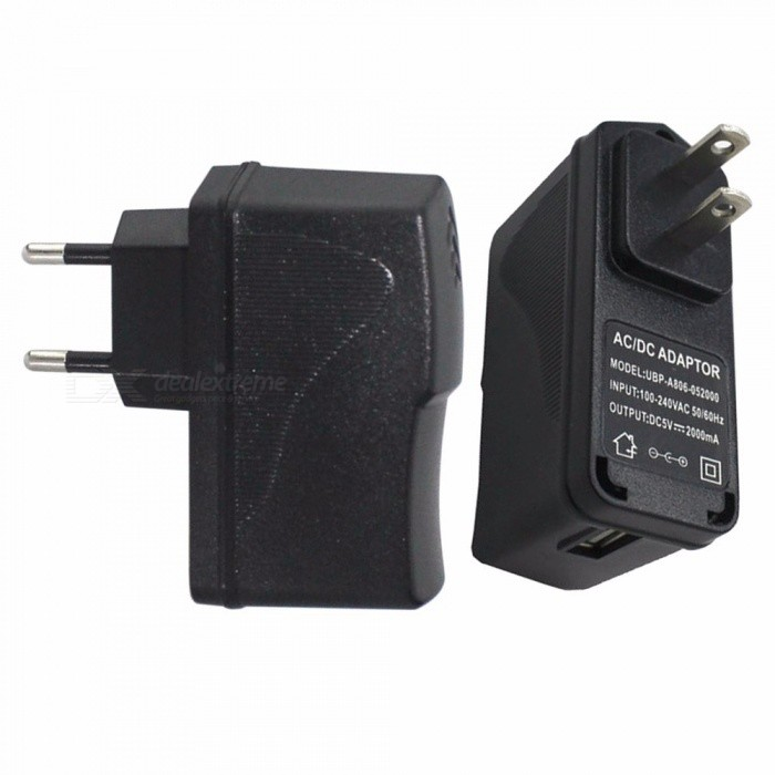 Buy 10W Mobile Phone Charger 5V 2A Charging Adapter Phone Charger USB Charger US EU Plug Power Adapter Wall Charger Black/US with Litecoins with Free Shipping on Gipsybee.com