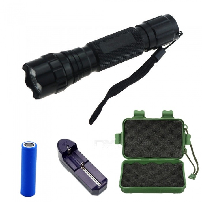 ZHAOYAO WF-501B 3-LED Infrared Hunting Flashlight, Camera Fill Light Torch with Charger