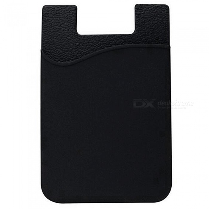 best website 60f58 b9dc8 JEDX Silicone Adhesive Credit Card Pocket Money Pouch Holder Case for Cell  Phone - Black