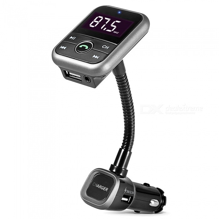 KELIMA BT67 Car Bluetooth Handsfree Support Lossless Incoming Numbers FM Transmitter Bluetooth MP3 - Black