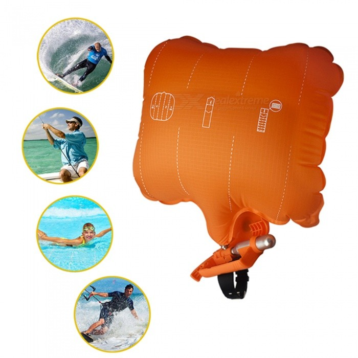 Anti Drowning Portable Lifesaving Float Wristband with Co2 Cylinder Bladder
