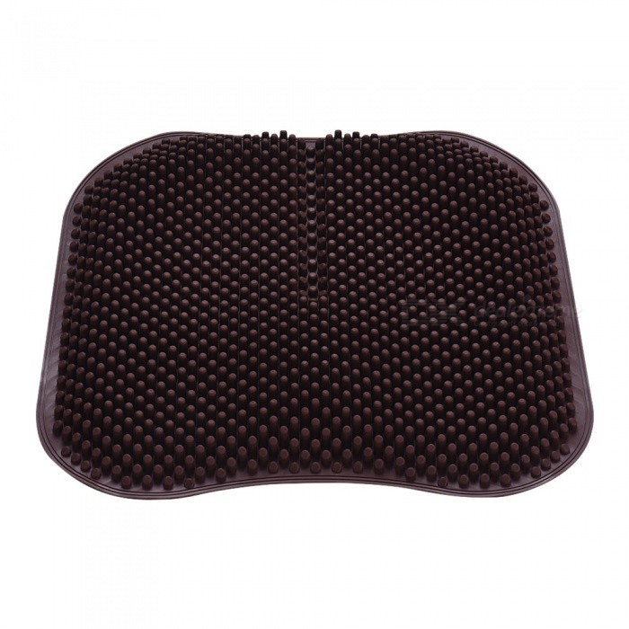 Buy Qook 18 Inches Silica Gel Car Seat Cushion, Round & Non-Slip Chair Pad for Office Truck Home - Brown with Litecoins with Free Shipping on Gipsybee.com