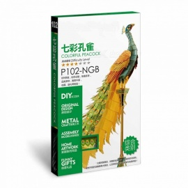 ZHAOYAO-P102-NGB-Colorful-Peacock-Creative-Gift-3D-Metal-Assembly-Model-Toy-Jigsaw-Puzzle