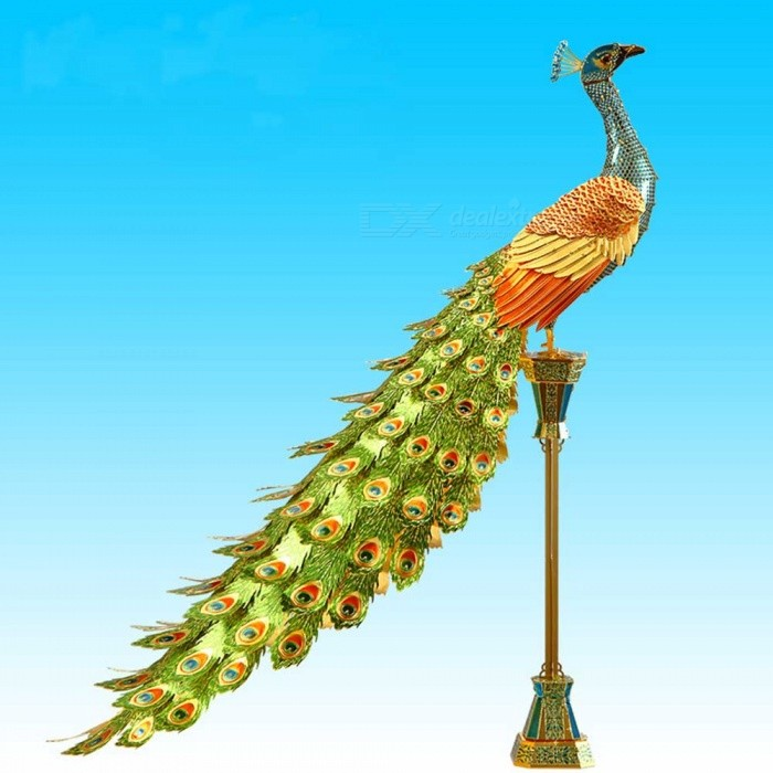 ZHAOYAO P102-NGB Colorful Peacock Creative Gift, 3D Metal Assembly Model  Toy Jigsaw Puzzle