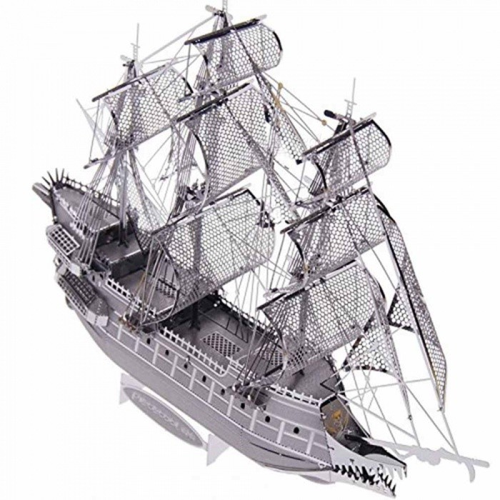 Buy ZHAOYAO Flying Dutchman 3D Laser Cutting DIY Metallic Boat Model Jigsaw, 3D Metal Puzzle Educational DIY Jigsaws Gift with Litecoins with Free Shipping on Gipsybee.com